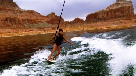 Wake Surfing Lake Powell